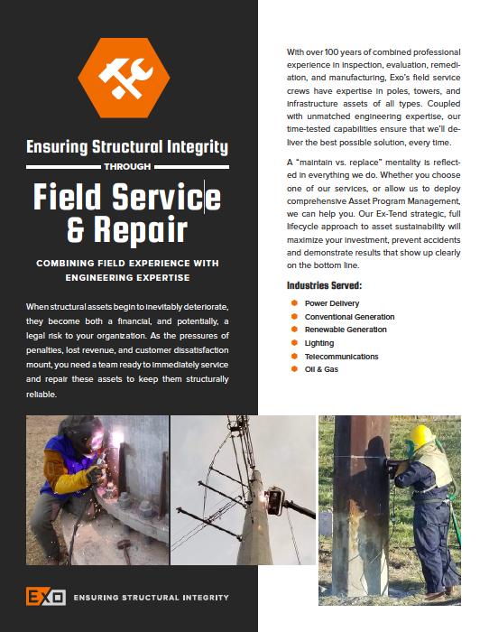Field Service & Repair info
