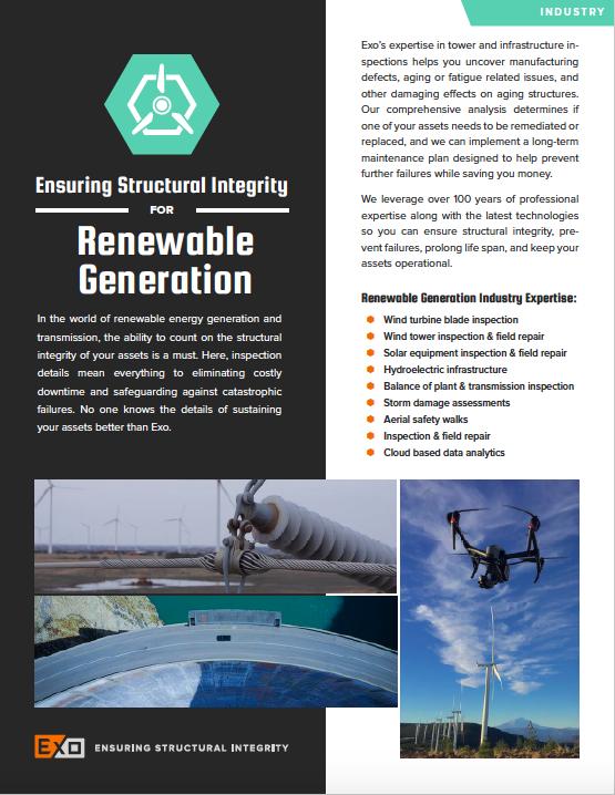 Renewable Generation info